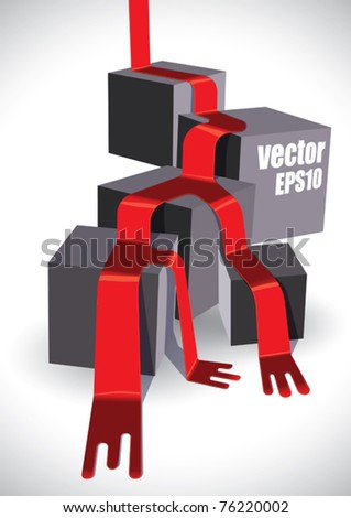 Vector 3D  Paint - stock vector