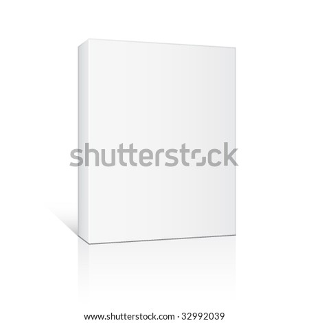 vector 3d paper box - stock vector