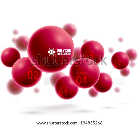 Vector 3D Polygonal Graphics - stock vector