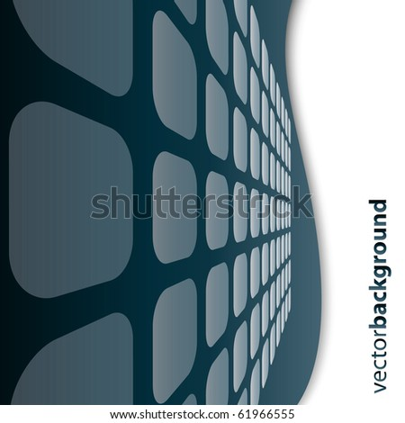 Vector 3D square vector background - stock vector