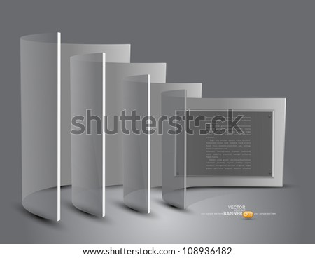 Vector 3d stand with transparent panels - stock vector