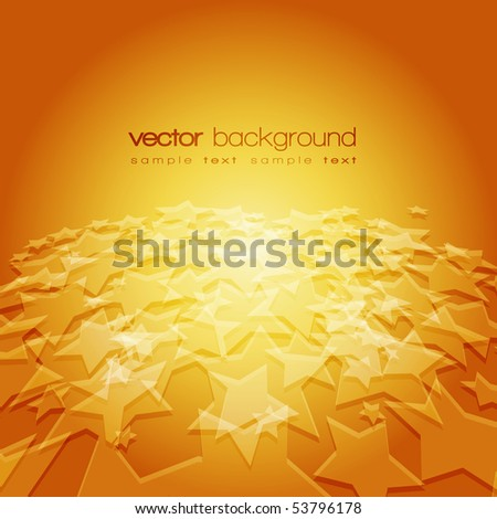 Vector 3D stars on the colorful background with text - stock vector