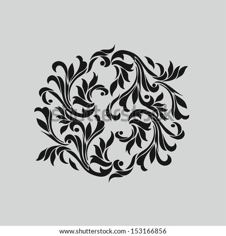 Vector damask Decorative elements pattern design - stock vector