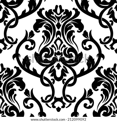 Vector damask pattern - stock vector