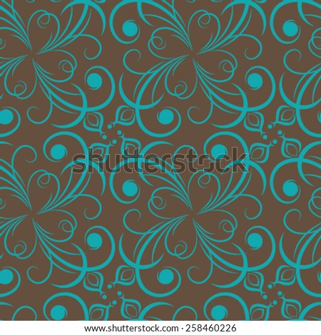Vector damask seamless pattern background. Elegant luxury texture for wallpapers.