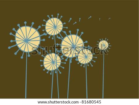vector dandelion - stock vector