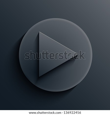 Vector dark circle icon. Eps10 - stock vector