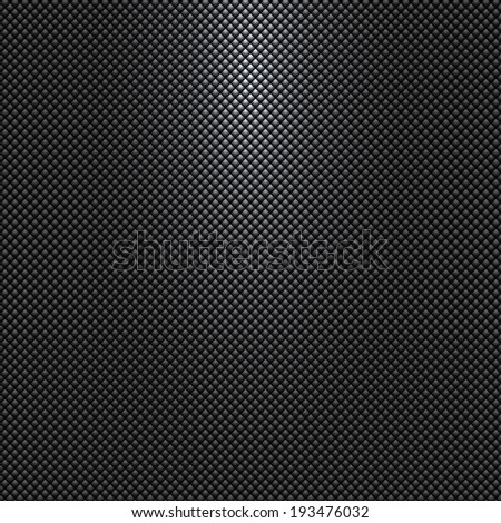 Vector dark gray or black background with rhombus pattern and light source