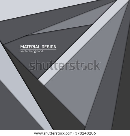 Vector dark purple-blue and grey material design background. Abstract creative concept layout template. For web and mobile app, paper art illustration design. style blank, poster, booklet.