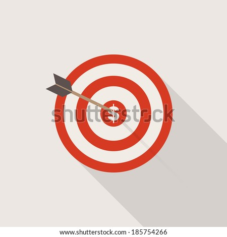 Vector Dart Arrow Icon Successful Business Concept  - stock vector