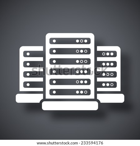 Vector data center icon - stock vector
