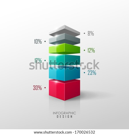 Vector data presentation template  - stock vector
