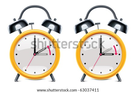Vector daylight saving time illustration - stock vector