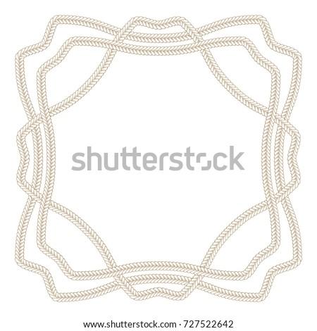 vector decorative braids fancy frame card stock vector 727522642