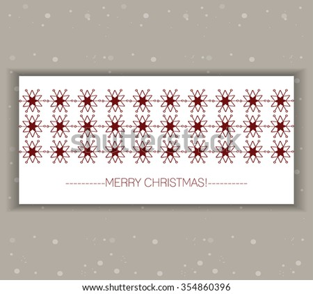 Vector decorative Christmas and New Year card.Red Christmas tree and gift box background.Decorative illustration.Template,wallpaper,background for poster,cover,postcard, invitation,banner,greetings