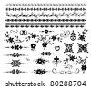 Vector decorative design elements - stock vector