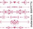 Vector decorative design elements and page decor. Happy valentine day decor - stock vector