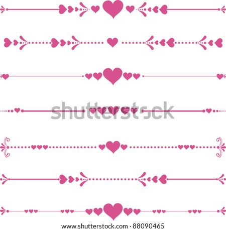 Vector decorative design elements and page decor. Happy valentine day decor - stock vector