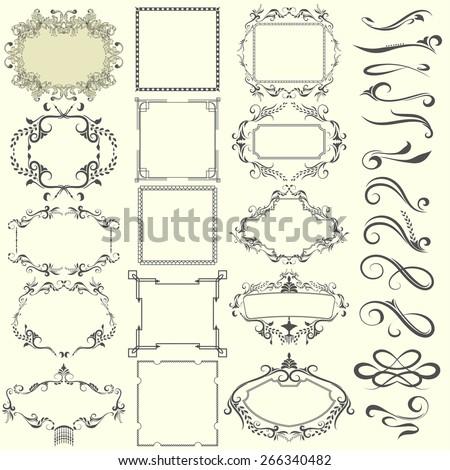 Vector decorative design elements set - stock vector
