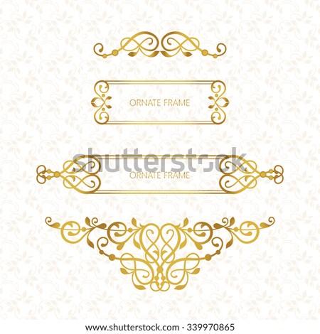 vector decorative frame elegant element design stock