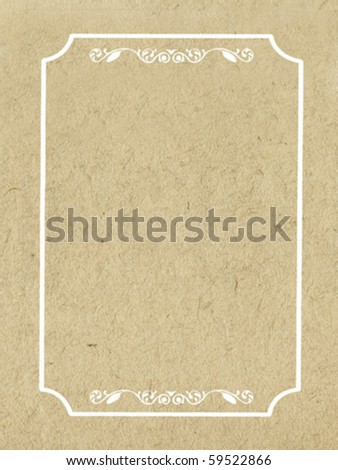 vector decorative frame on grunge background - stock vector