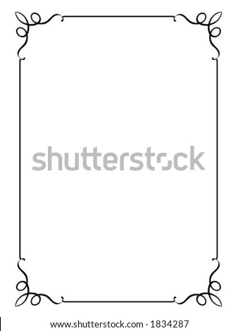 Vector decorative frame. This is a vector image - you can simply edit colors and shapes. - stock vector
