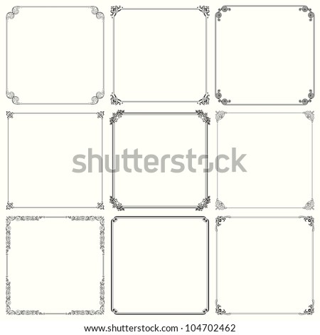 Vector decorative frames (set 23) - stock vector