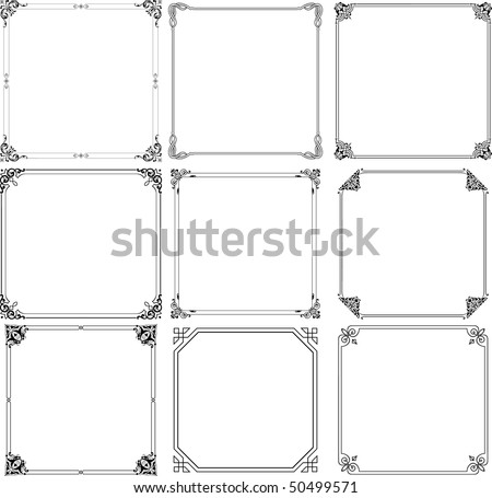 Vector decorative frames (set 1) - stock vector