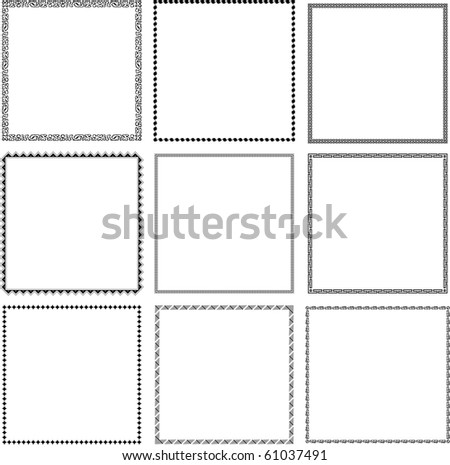 Vector decorative frames (set 5)