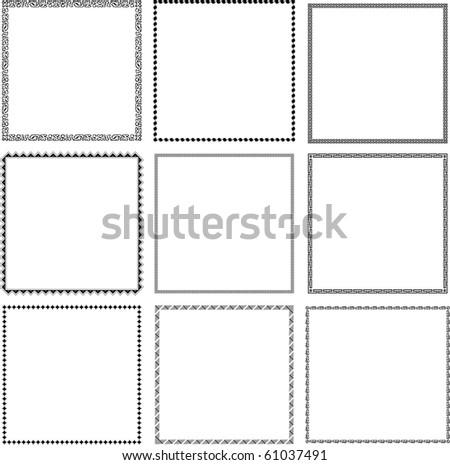 Vector decorative frames (set 5) - stock vector