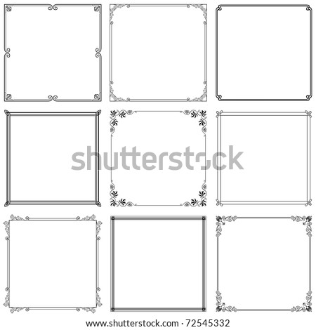 Vector decorative frames (set 7) - stock vector