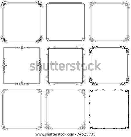 Vector decorative frames (set 10) - stock vector