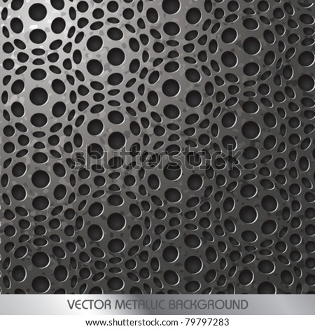 Vector Decorative Metallic Background - stock vector