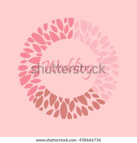 Vector decorative monograms for design template. An elegant element for logo design, place for text, line art floral frame. Lace illustration for invitation, greeting cards. - stock vector