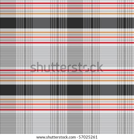 Vector decorative plaid pattern. Easy to scale and edit. Pattern is included as seamless swatch - stock vector