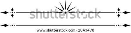 Vector Decorative Rules - stock vector