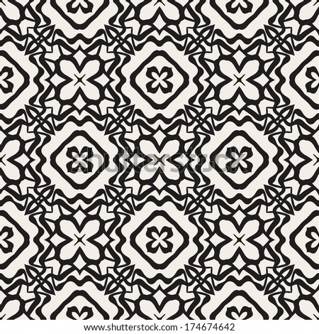 Vector decorative seamless pattern. Abstract ornamental floral background