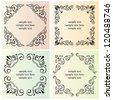 Vector decorative text frames - stock vector