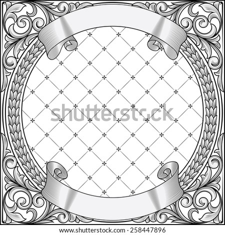 Vector decorative vintage blank - stock vector