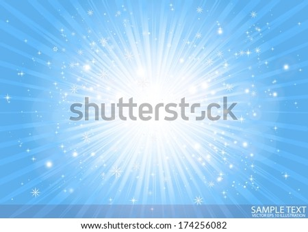Vector deep blue space star burst abstract background illustration - Vector blue star burst  illustration template - stock vector