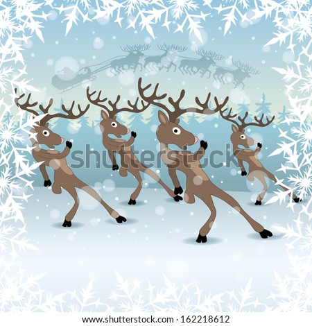 Vector. Deers. - stock vector