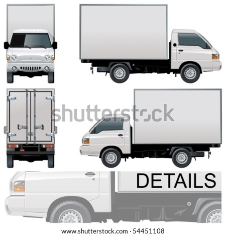 Vector delivery / cargo truck - stock vector