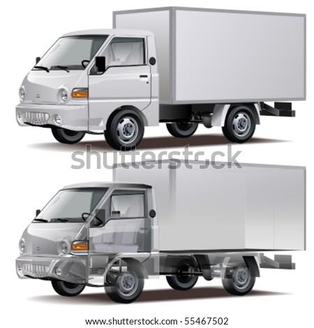 Vector delivery / cargo truck (infographics) - stock vector