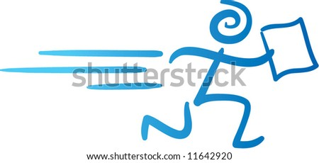 vector delivery marketing man icon - stock vector