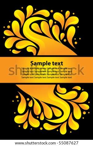 Vector design, abstract banner - stock vector