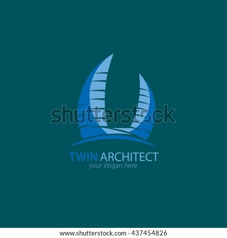 Vector design architect logo icon design template element. Flat style design