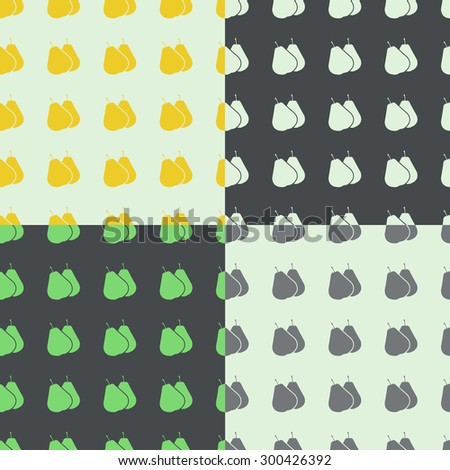 Vector design background with pears. For brochures, templates - stock vector