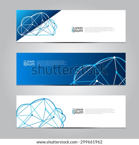 Vector design Banner Cloud computing technology background. illustration EPS10 - stock vector