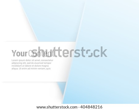 Vector design. Blue  Edition of an Abstract Geometric Colorful Info Graphics Page Element for Web, Print or Brochure Layout  - stock vector