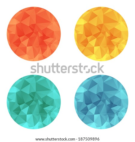 Vector design bright circle wrinkled elements - stock vector